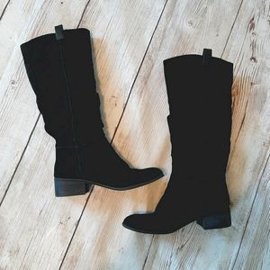BP TRAFFIC SLOUCH BOOT BLACK SUEDE